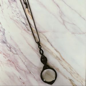 Lucky Brand Magnifying Glass Necklace